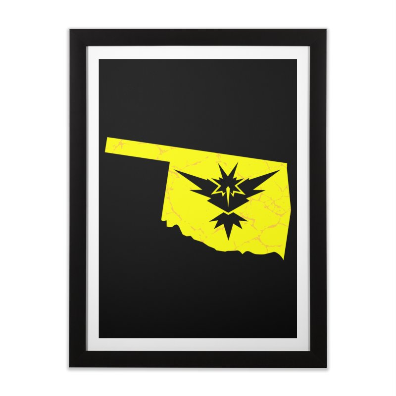 Pokemon Go Oklahoma - Team Instinct Home Framed Fine Art Print by Oklahoma Gamers' Shop