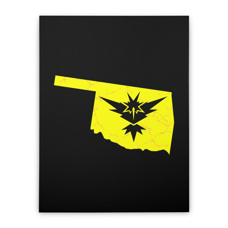 Pokemon Go Oklahoma - Team Instinct Home Stretched Canvas by OKgamers's Shop