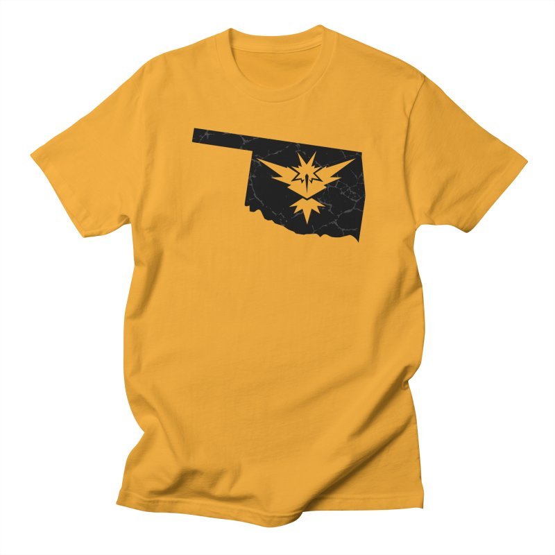 Pokemon Go Oklahoma - Team Instinct (Black) Men's Regular T-Shirt by Oklahoma Gamers' Shop