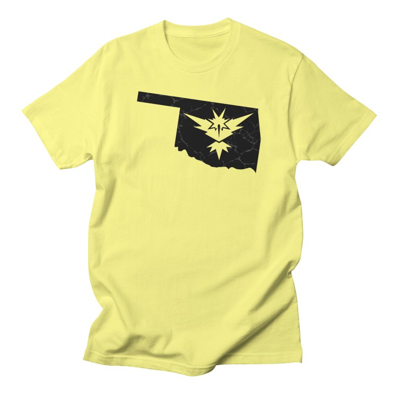Pokemon Go Oklahoma - Team Instinct (Black) in Men's Regular T-Shirt Lemon by OKgamers's Shop