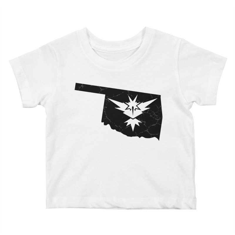 Pokemon Go Oklahoma - Team Instinct (Black) Kids Baby T-Shirt by Oklahoma Gamers' Shop