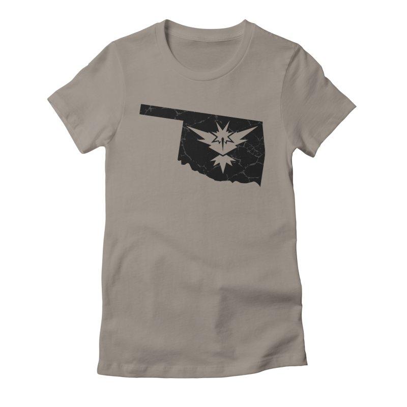Pokemon Go Oklahoma - Team Instinct (Black) Women's Fitted T-Shirt by OKgamers's Shop