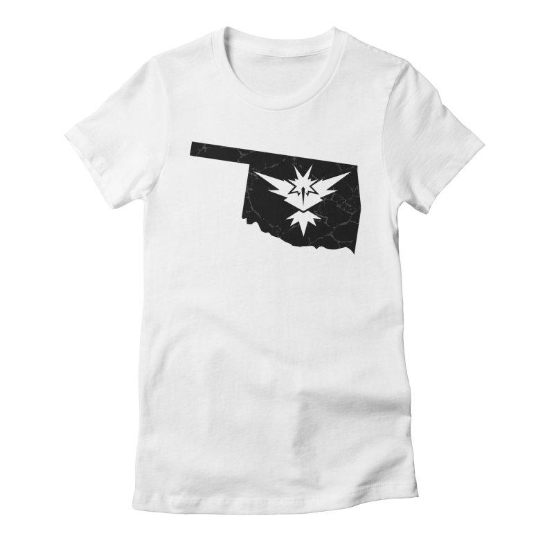 Pokemon Go Oklahoma - Team Instinct (Black) Women's Fitted T-Shirt by Oklahoma Gamers' Shop