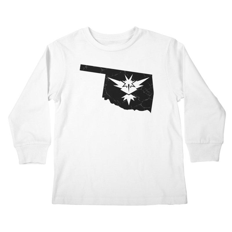 Pokemon Go Oklahoma - Team Instinct (Black) Kids Longsleeve T-Shirt by Oklahoma Gamers' Shop
