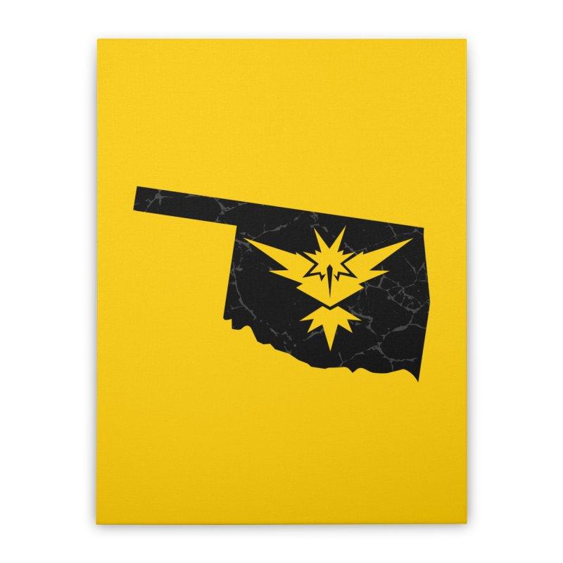 Pokemon Go Oklahoma - Team Instinct (Black) Home Stretched Canvas by OKgamers's Shop