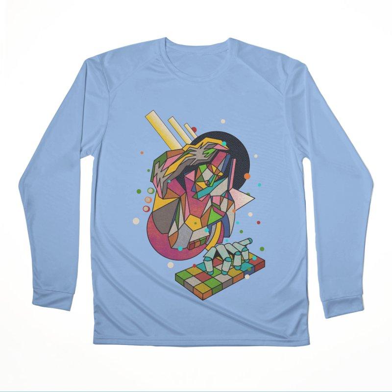 highersound Men's Performance Longsleeve T-Shirt by okik's Artist Shop