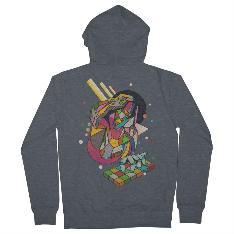 highersound Men's French Terry Zip-Up Hoody by okik's Artist Shop