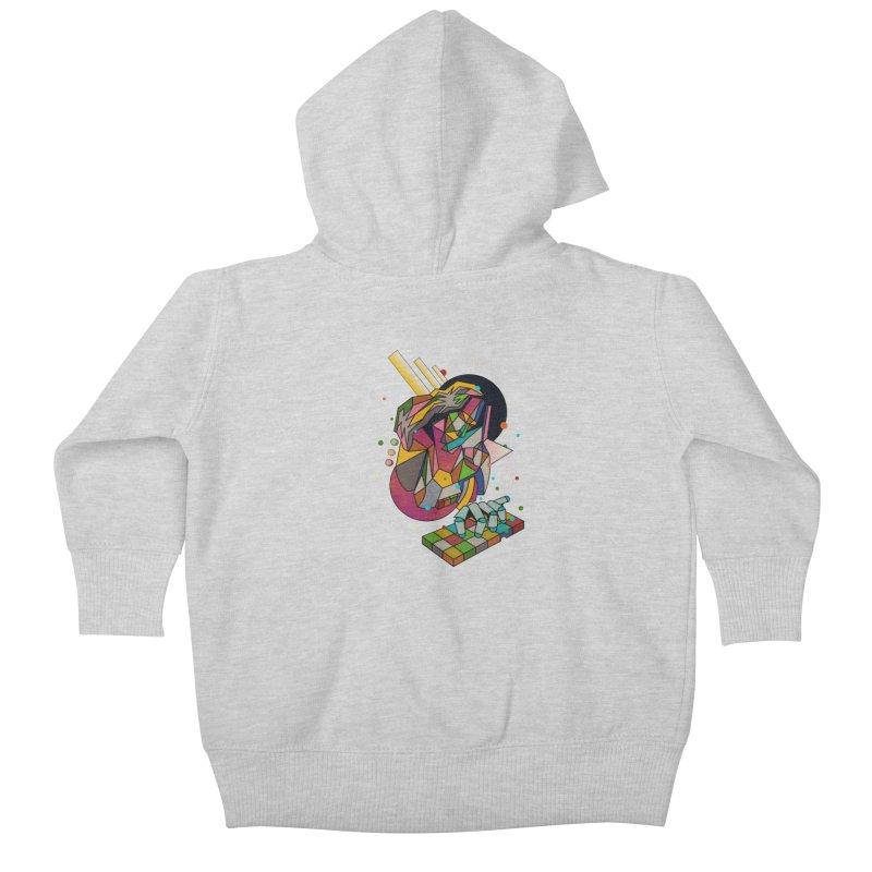 highersound Kids Baby Zip-Up Hoody by okik's Artist Shop