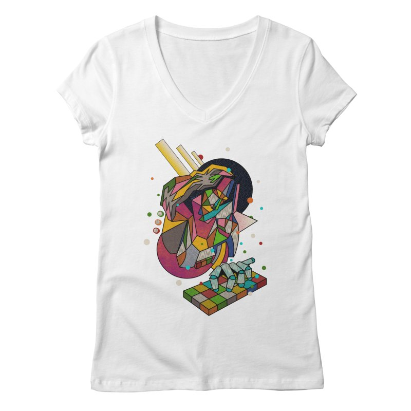 highersound Women's Regular V-Neck by okik's Artist Shop