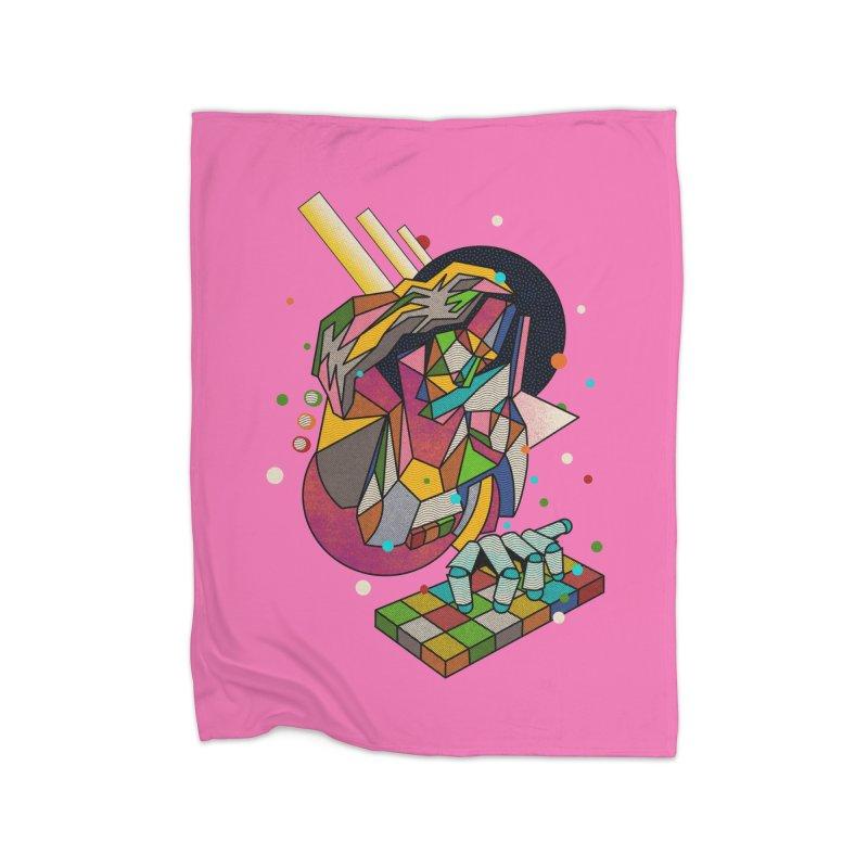 highersound Home Fleece Blanket Blanket by okik's Artist Shop