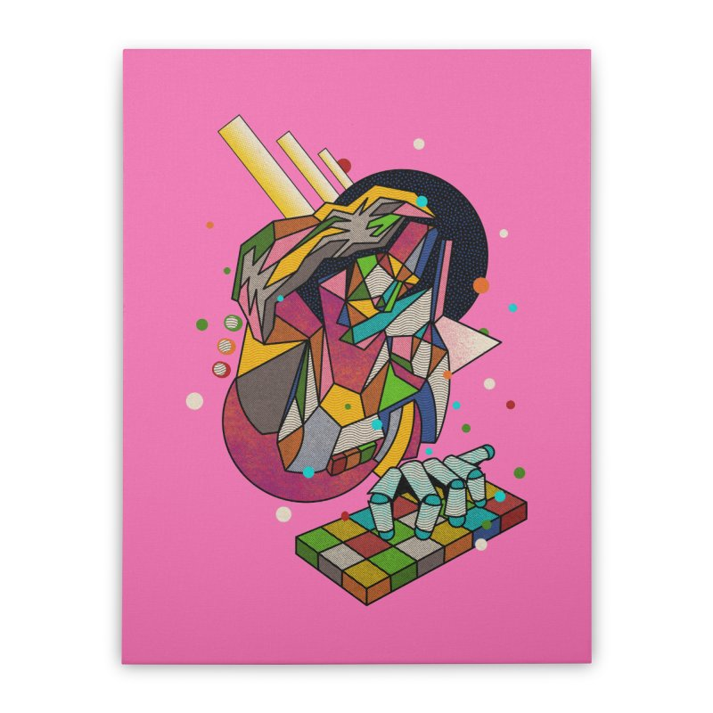 highersound Home Stretched Canvas by okik's Artist Shop