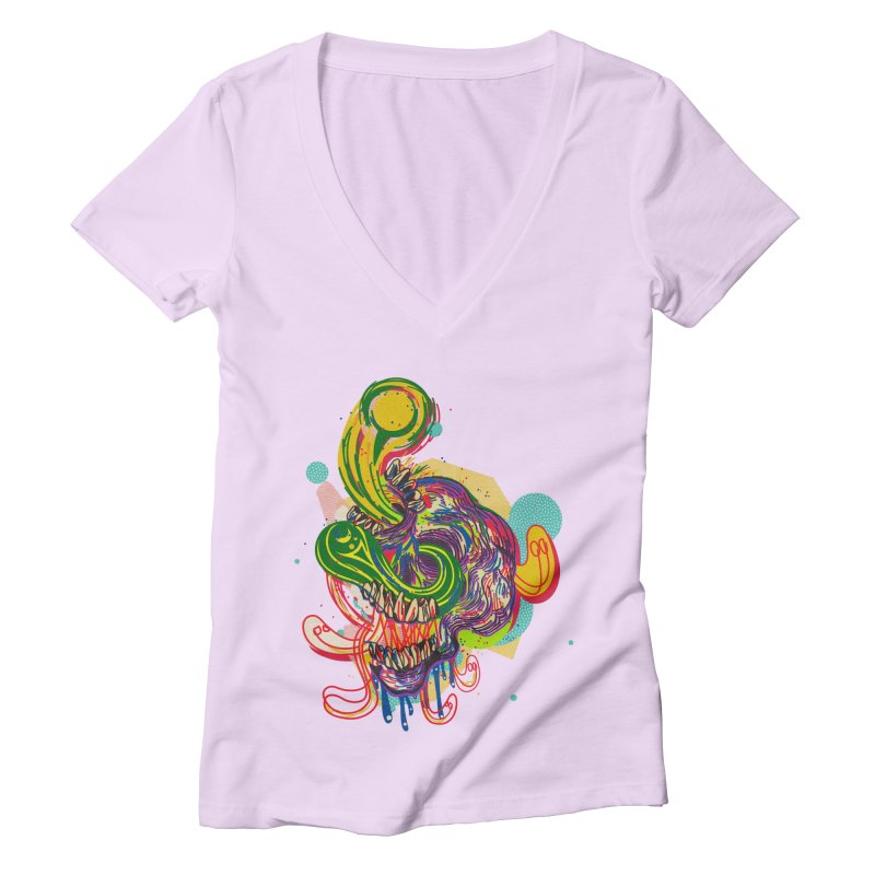 omg Women's Deep V-Neck V-Neck by okik's Artist Shop
