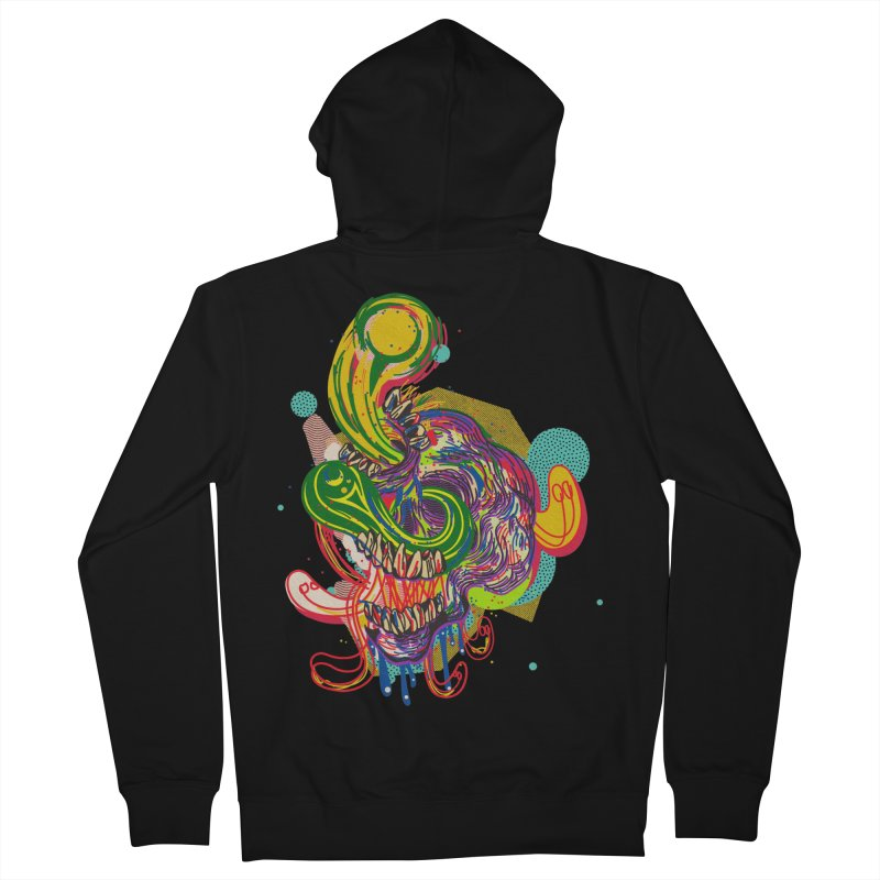 omg Men's French Terry Zip-Up Hoody by okik's Artist Shop