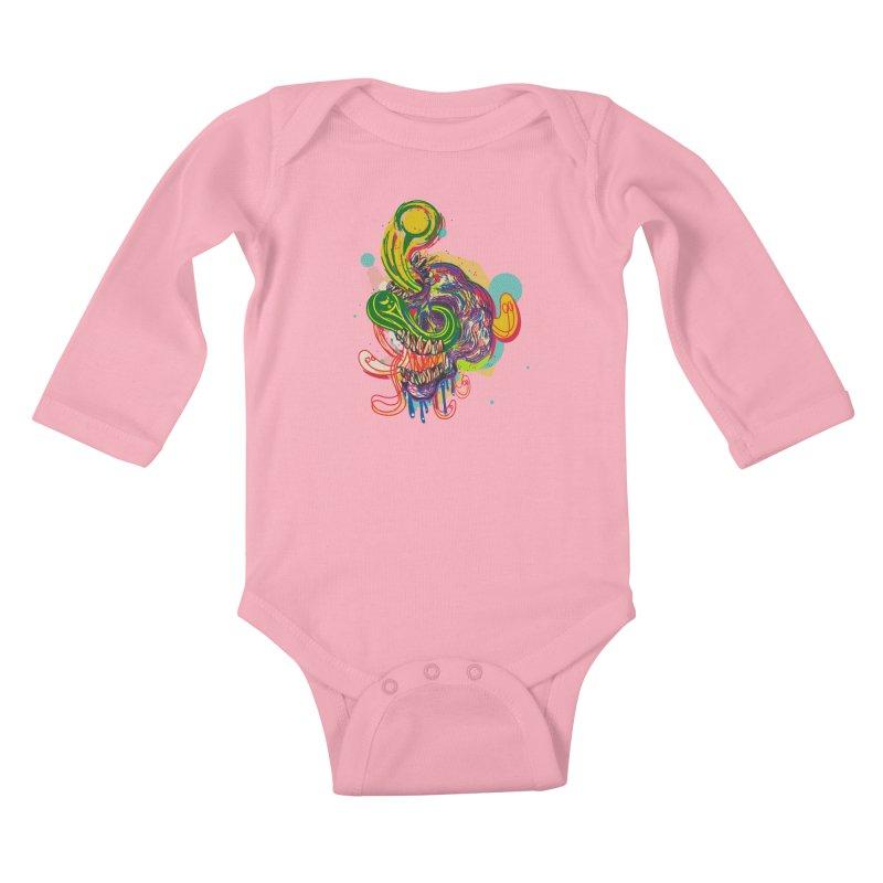 omg Kids Baby Longsleeve Bodysuit by okik's Artist Shop