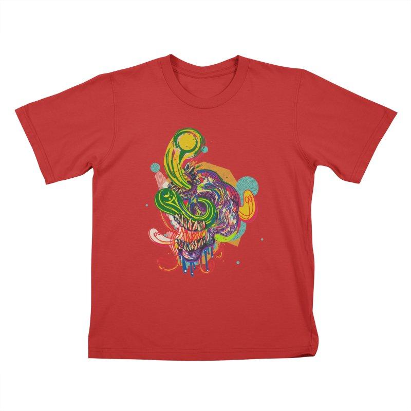 omg Kids T-Shirt by okik's Artist Shop