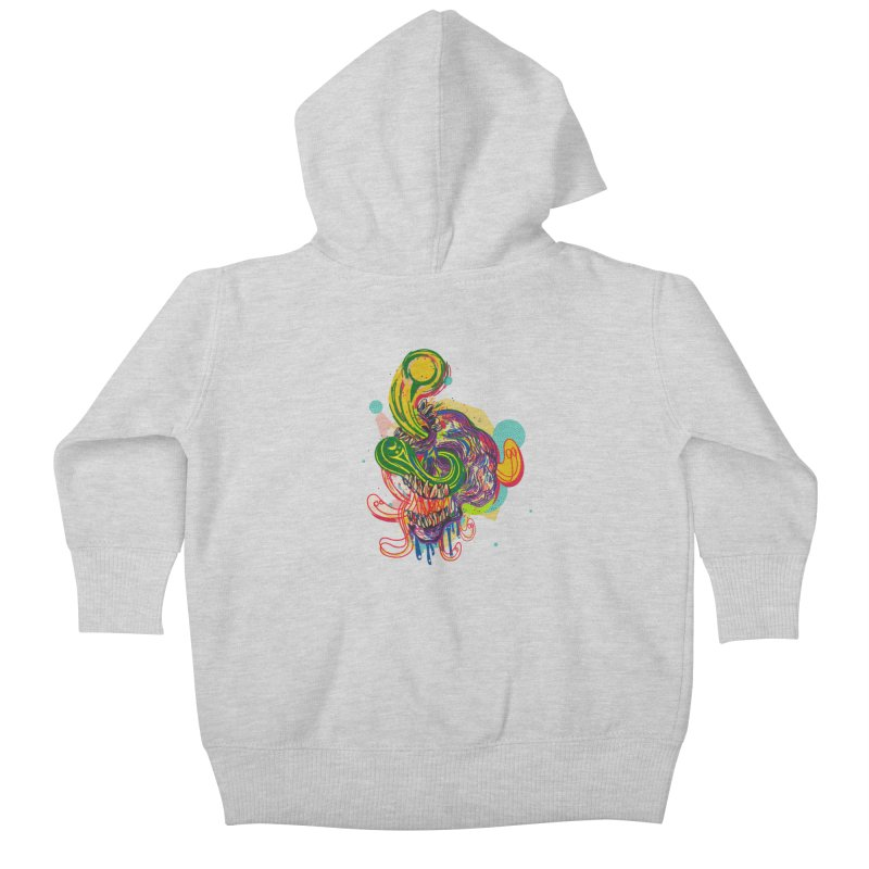 omg Kids Baby Zip-Up Hoody by okik's Artist Shop