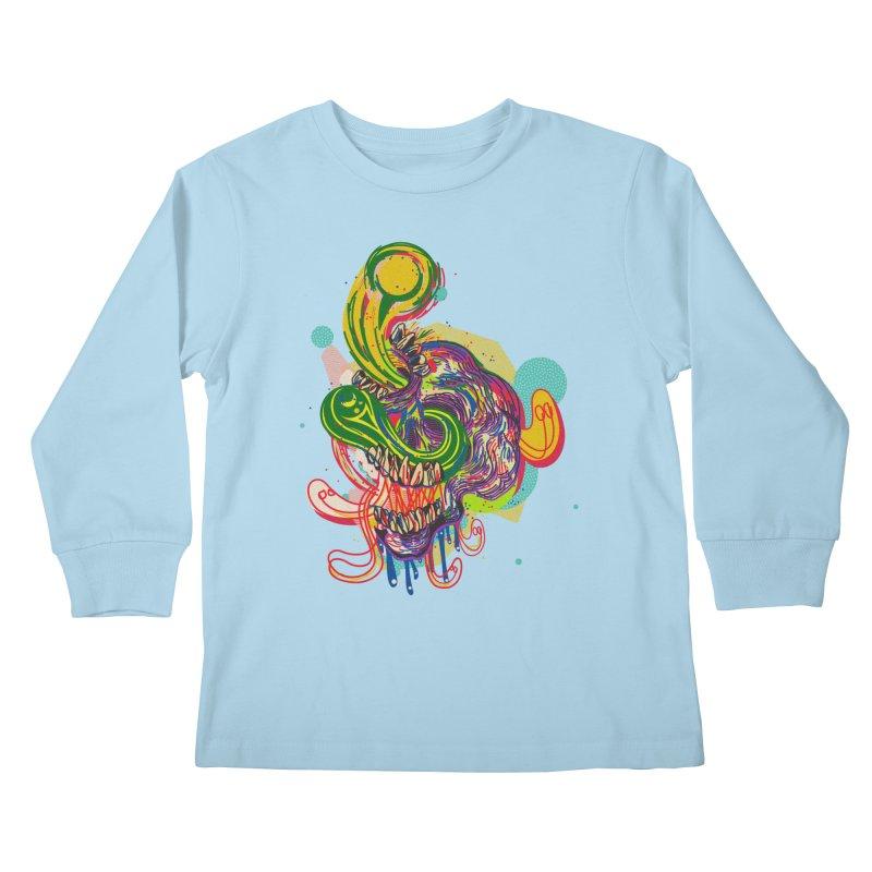 omg Kids Longsleeve T-Shirt by okik's Artist Shop