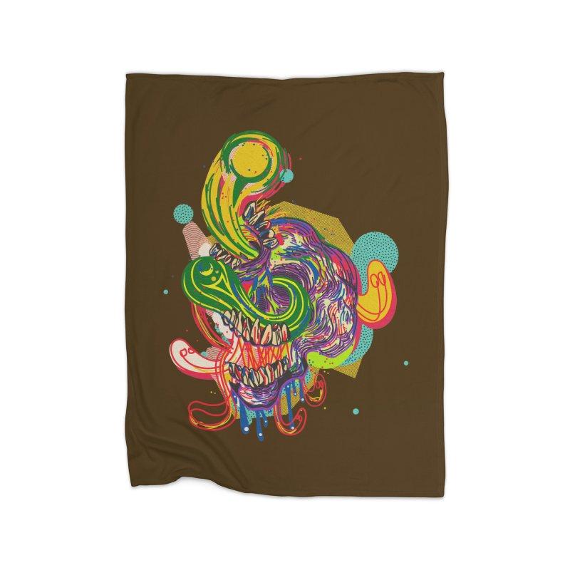 omg Home Fleece Blanket Blanket by okik's Artist Shop