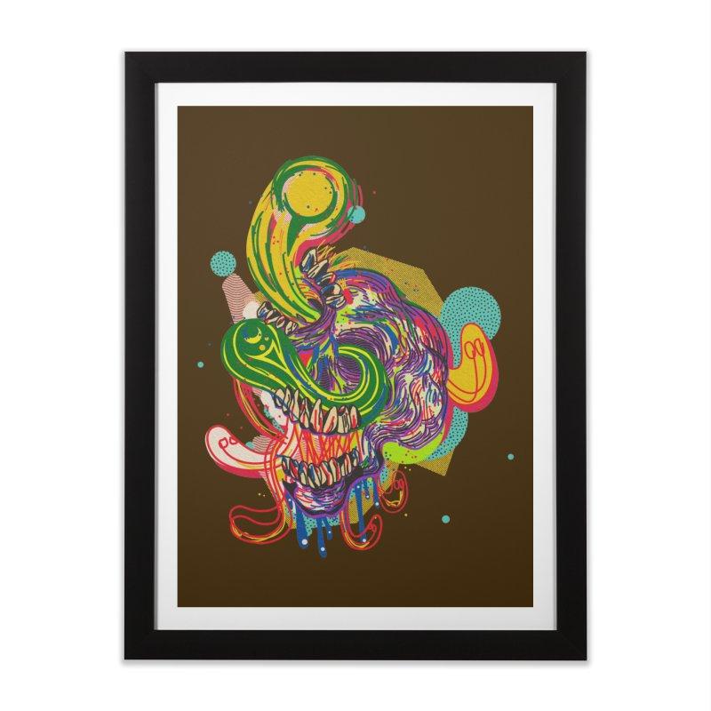 omg Home Framed Fine Art Print by okik's Artist Shop