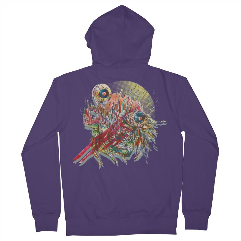 purgatory Women's French Terry Zip-Up Hoody by okik's Artist Shop