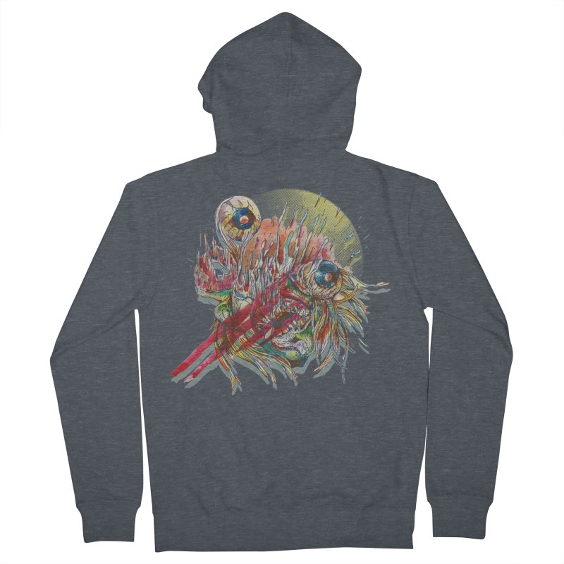 purgatory Men's French Terry Zip-Up Hoody by okik's Artist Shop