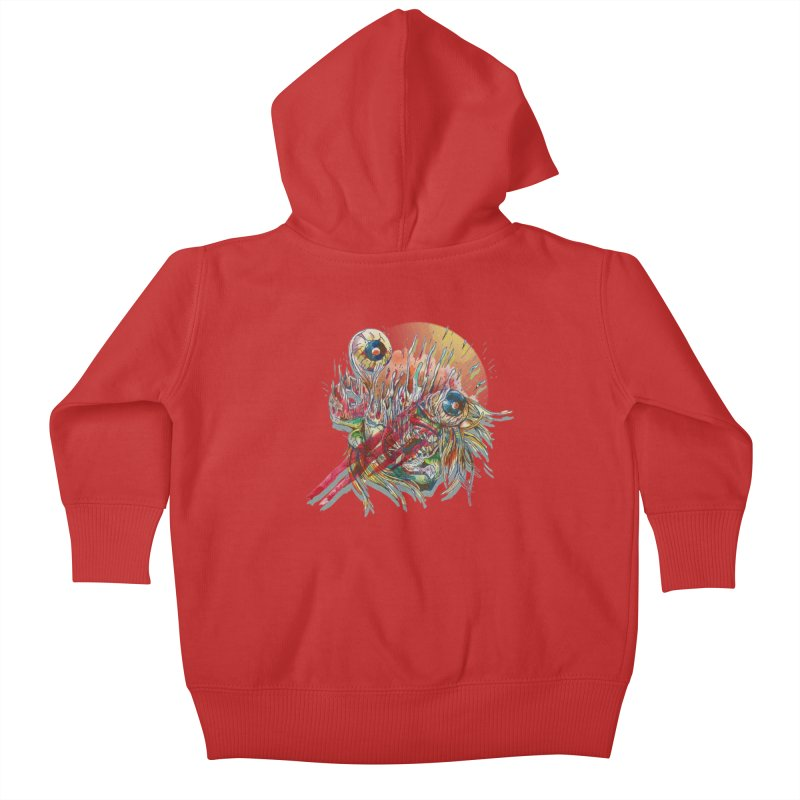 purgatory Kids Baby Zip-Up Hoody by okik's Artist Shop