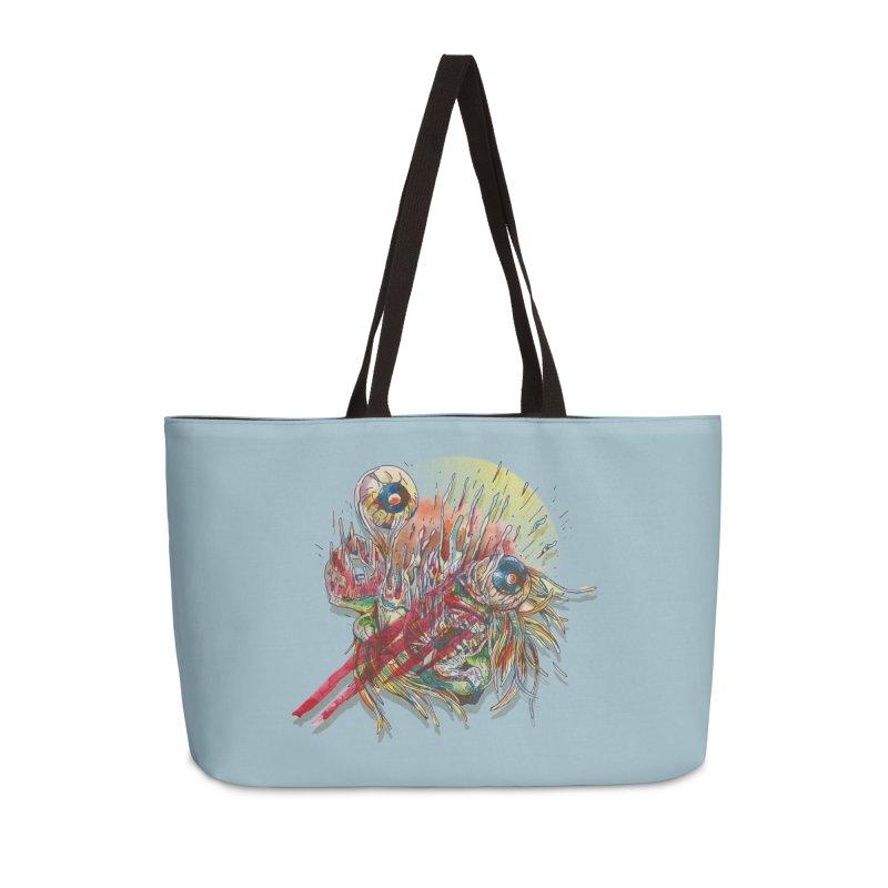purgatory Accessories Weekender Bag Bag by okik's Artist Shop
