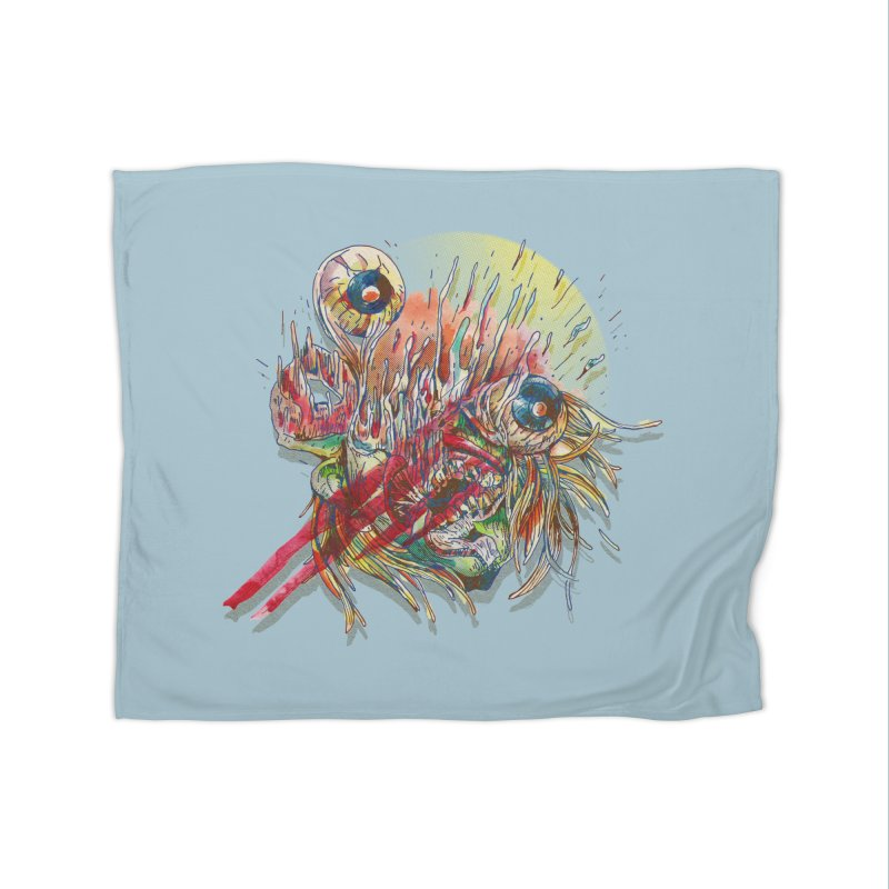 purgatory Home Fleece Blanket Blanket by okik's Artist Shop