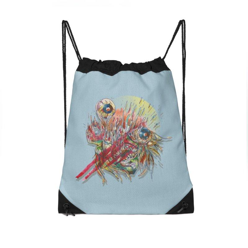 purgatory Accessories Drawstring Bag Bag by okik's Artist Shop