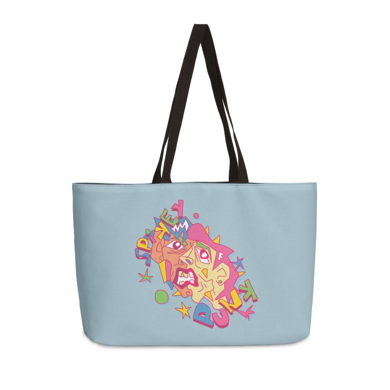 spikey punk Accessories Weekender Bag Bag by okik's Artist Shop