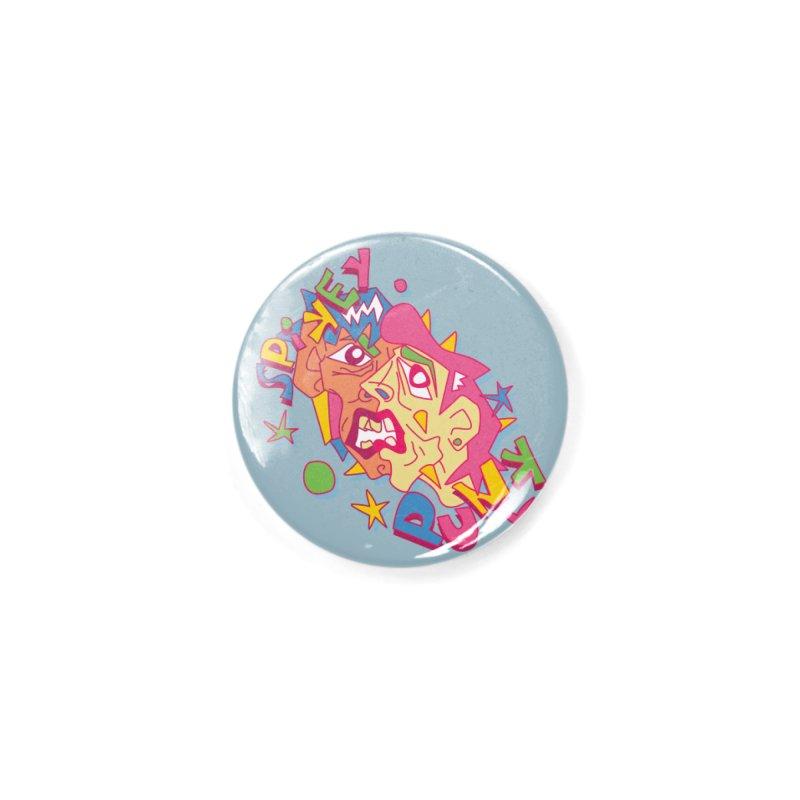 spikey punk Accessories Button by okik's Artist Shop