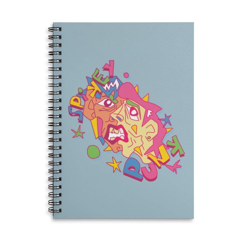 spikey punk Accessories Lined Spiral Notebook by okik's Artist Shop