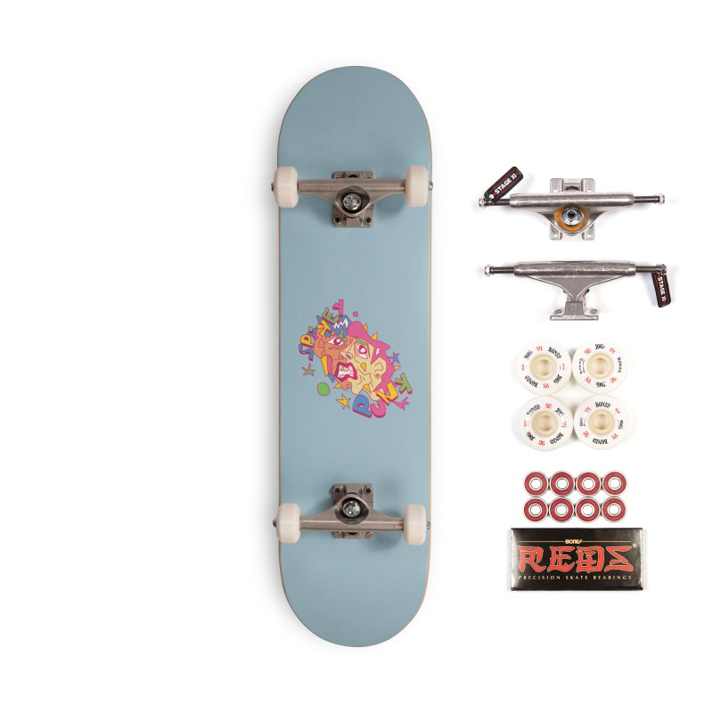 spikey punk Accessories Complete - Pro Skateboard by okik's Artist Shop