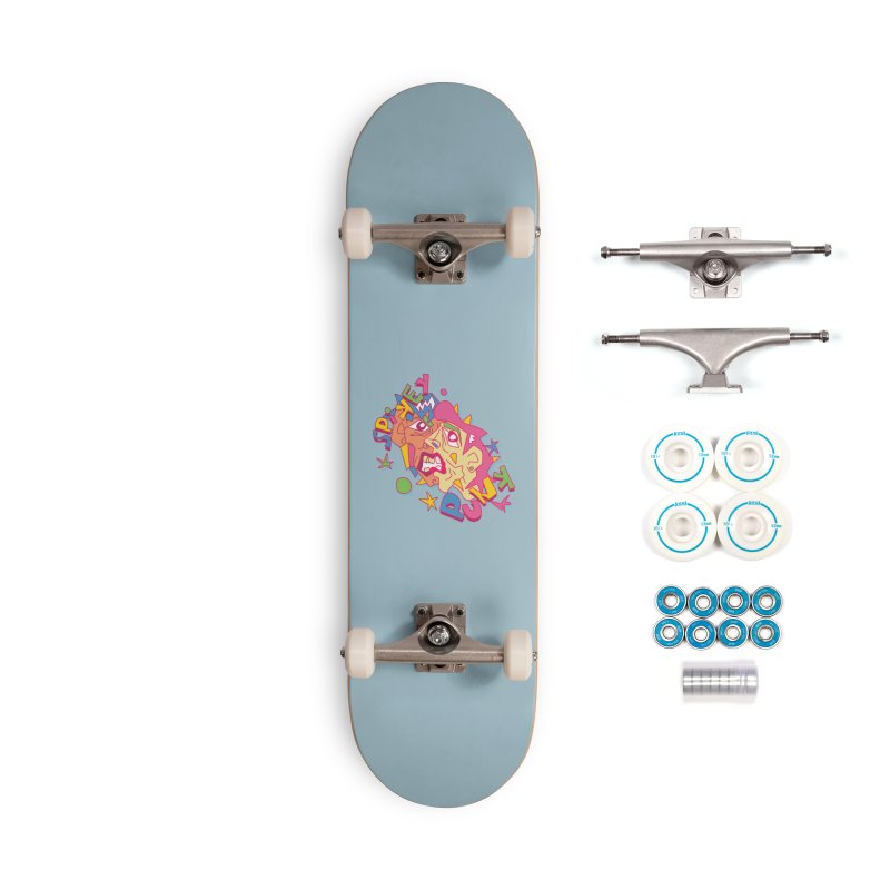 spikey punk Accessories Complete - Basic Skateboard by okik's Artist Shop
