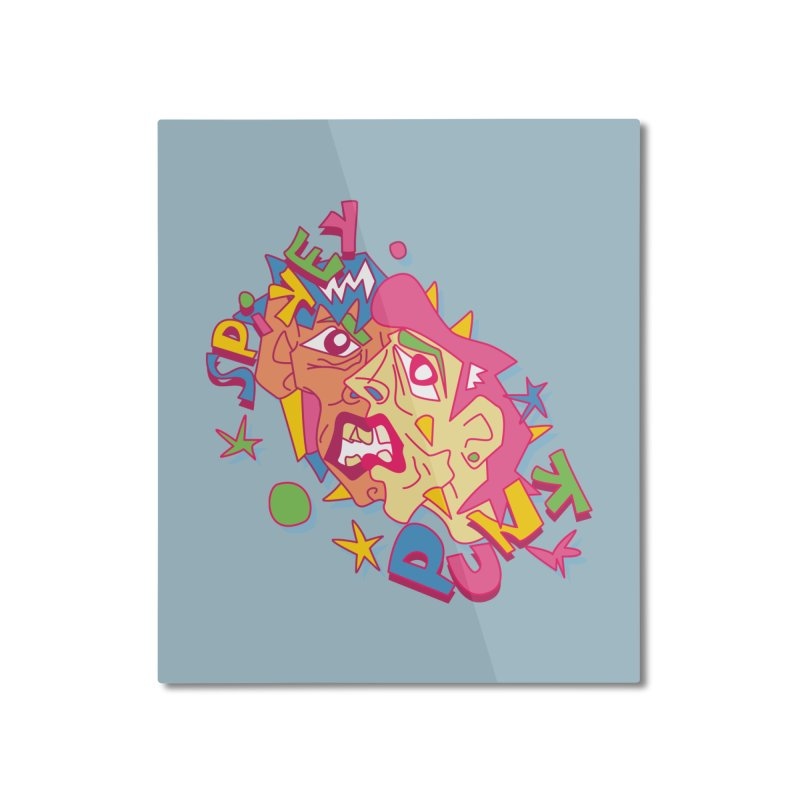 spikey punk Home Mounted Aluminum Print by okik's Artist Shop