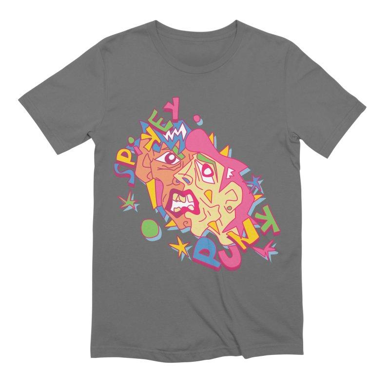 spikey punk Men's T-Shirt by okik's Artist Shop