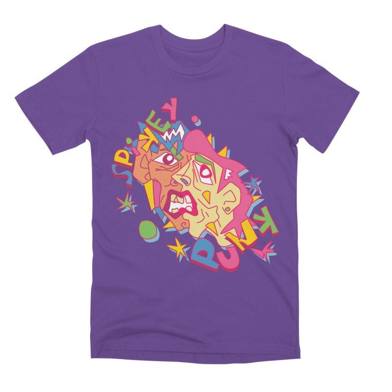 spikey punk Men's Premium T-Shirt by okik's Artist Shop