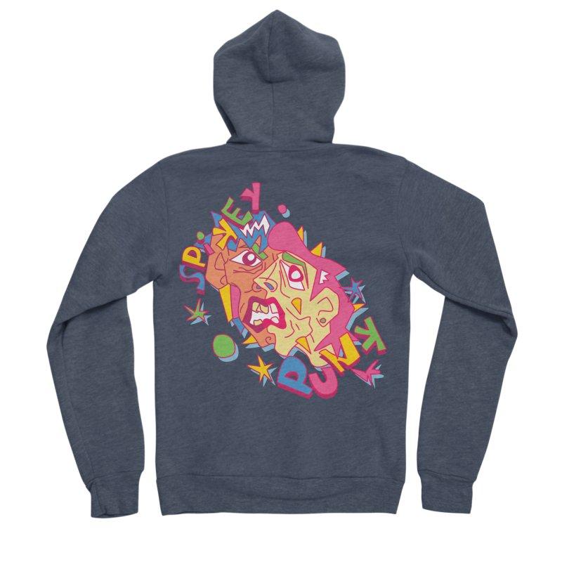 spikey punk Men's Sponge Fleece Zip-Up Hoody by okik's Artist Shop