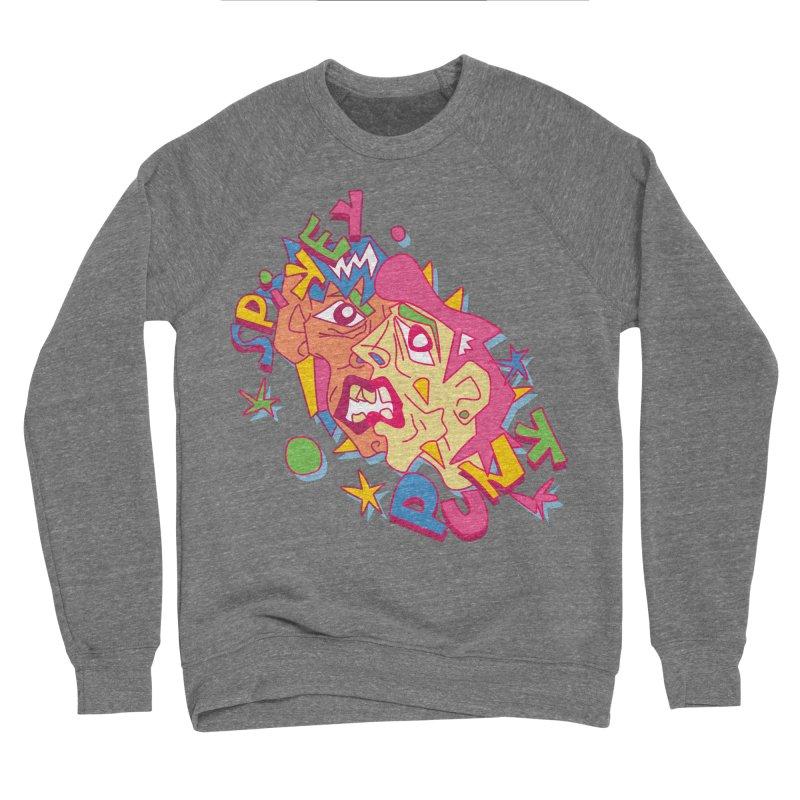 spikey punk Men's Sponge Fleece Sweatshirt by okik's Artist Shop