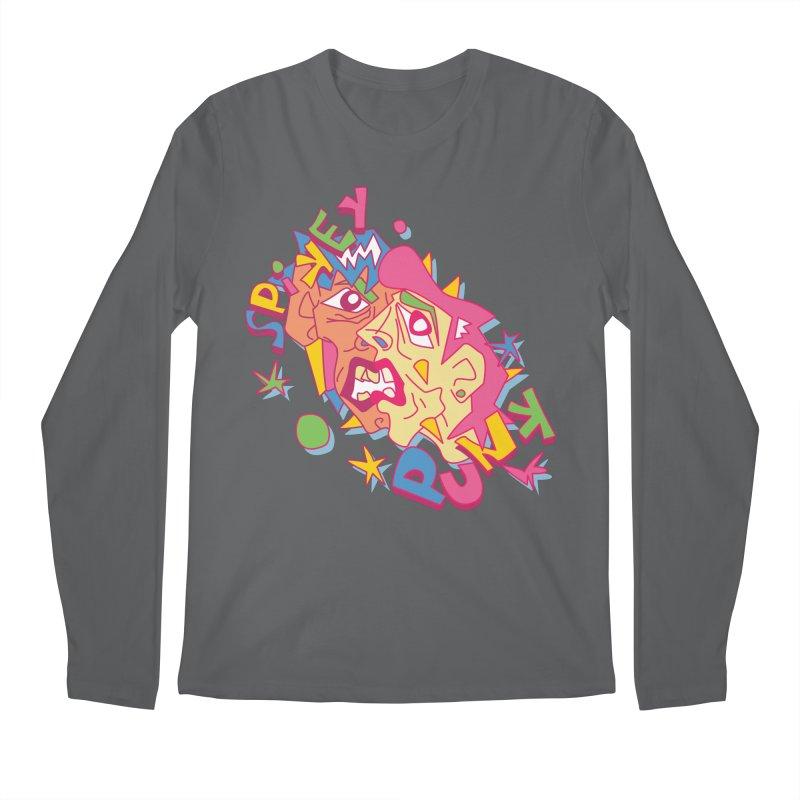 spikey punk Men's Longsleeve T-Shirt by okik's Artist Shop