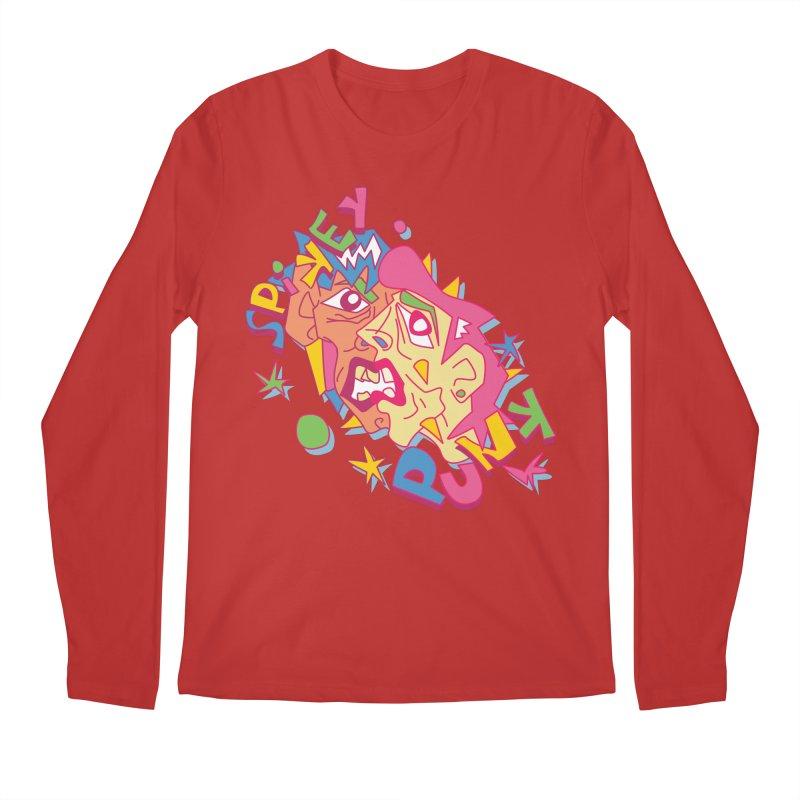 spikey punk Men's Regular Longsleeve T-Shirt by okik's Artist Shop