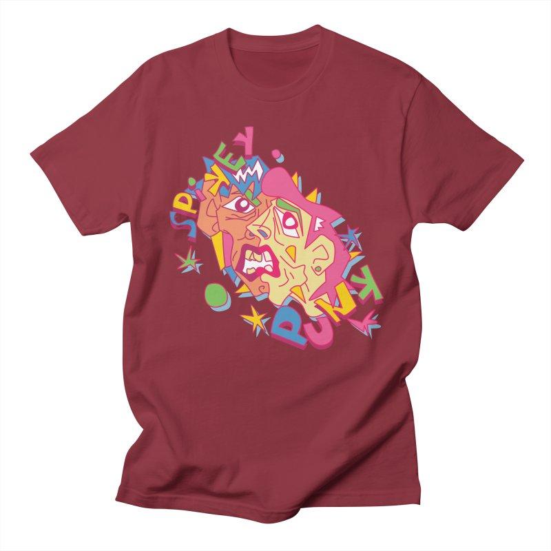 spikey punk Men's Regular T-Shirt by okik's Artist Shop