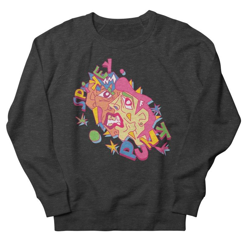 spikey punk Men's French Terry Sweatshirt by okik's Artist Shop