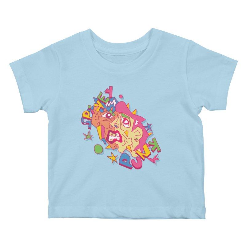 spikey punk Kids Baby T-Shirt by okik's Artist Shop