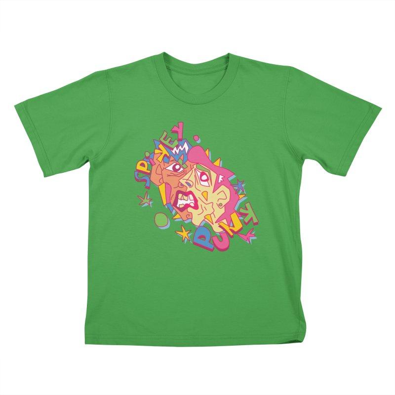 spikey punk Kids T-Shirt by okik's Artist Shop