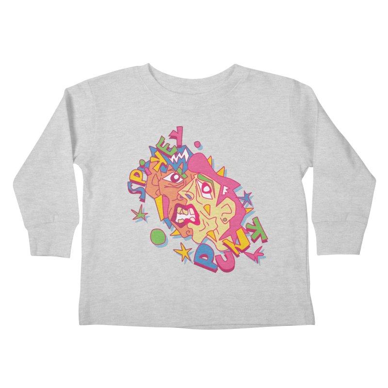 spikey punk Kids Toddler Longsleeve T-Shirt by okik's Artist Shop