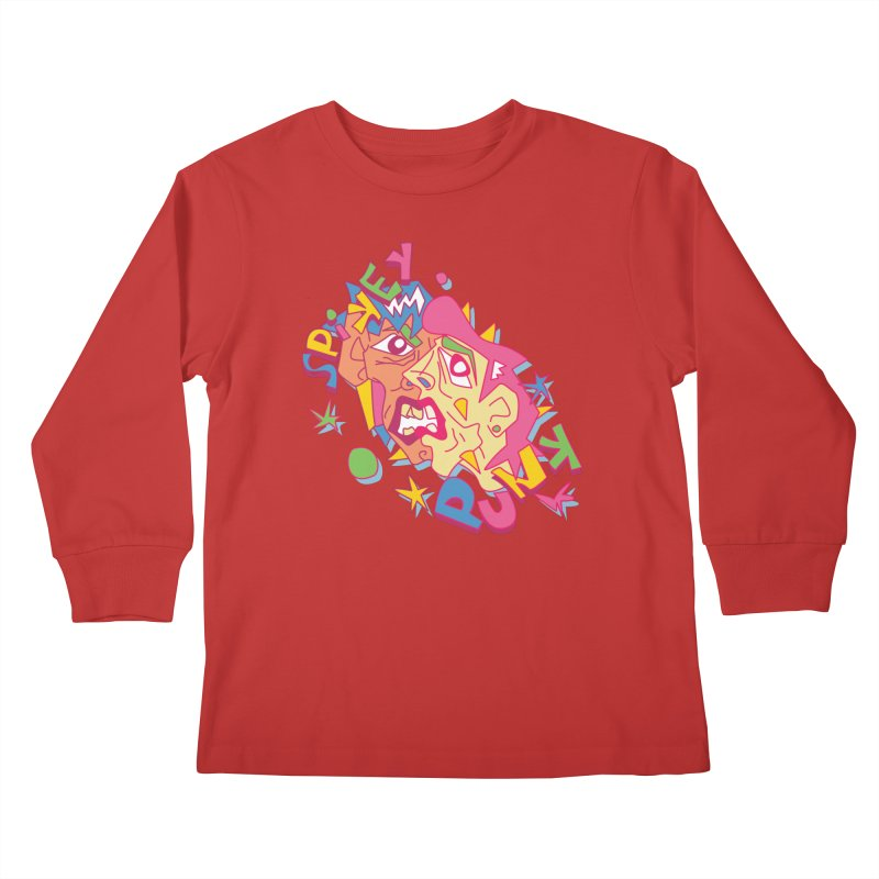 spikey punk Kids Longsleeve T-Shirt by okik's Artist Shop