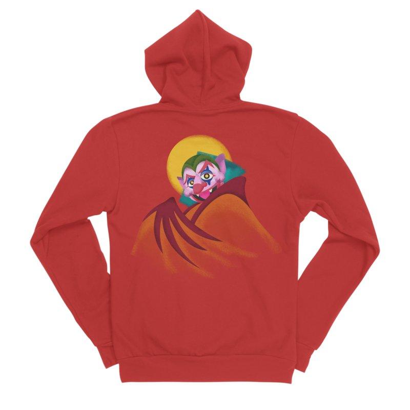 put on the happy fangs Men's Zip-Up Hoody by okik's Artist Shop