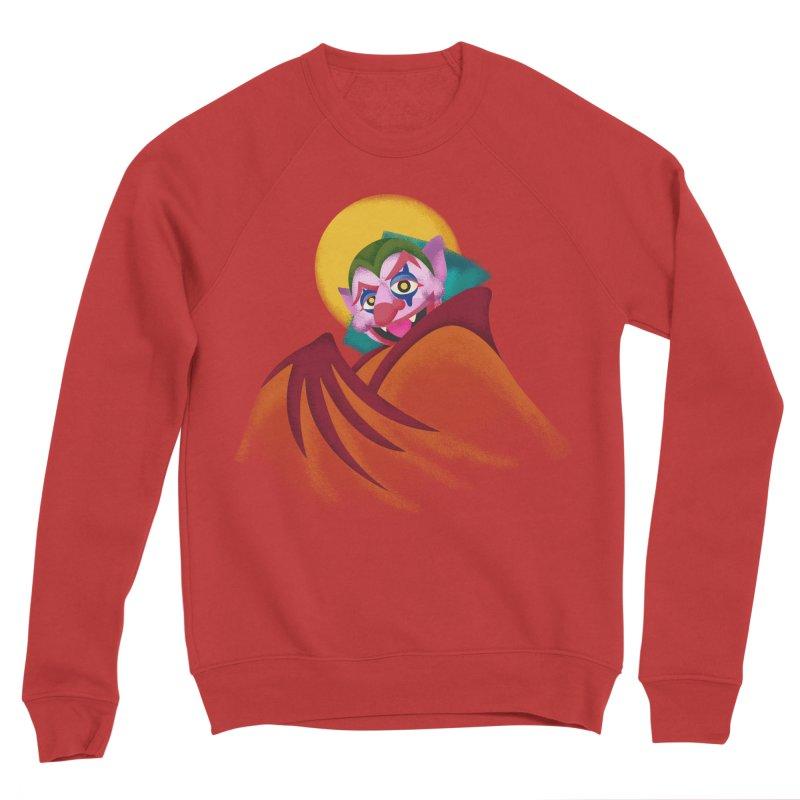 put on the happy fangs Men's Sponge Fleece Sweatshirt by okik's Artist Shop