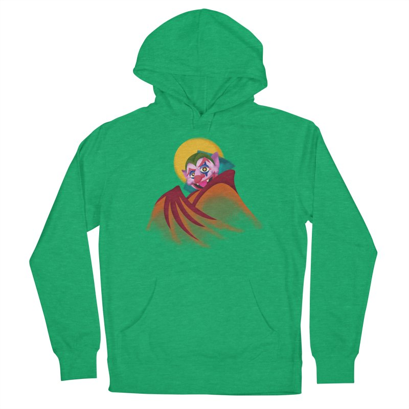 put on the happy fangs Men's French Terry Pullover Hoody by okik's Artist Shop